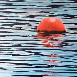 Buoy on the water painting