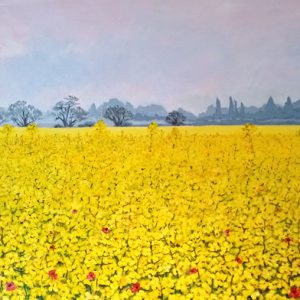 Kent field of rapeseed painting